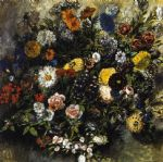 bouquet of flowers by eugene delacroix painting
