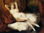 female nude reclining on a divan by eugene delacroix painting