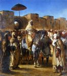 the sultan of morocco and his entourage by eugene delacroix oil paintings