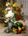 eugene henri cauchois famous paintings - grand bouquet de fleurs by eugene henri cauchois