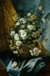 eugene henri cauchois famous paintings - still life of chrysanthemums by eugene henri cauchois