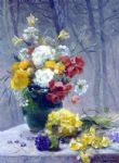eugene henri cauchois famous paintings - still life of flowers by eugene henri cauchois