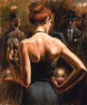 girl acrylic paintings - girl with red hair by fabian perez