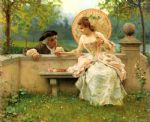 a tender moment in the garden by federico andreotti painting