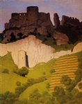 felix vallotton art - chateau gaillard at andelys by felix vallotton