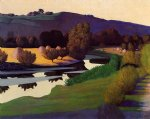 felix vallotton art - evening on the loire by felix vallotton