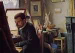 felix vallotton art - felix jasinski in his printmaking studio by felix vallotton