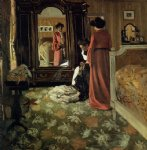 interior bedroom with two figures by felix vallotton acrylic paintings