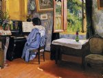 felix vallotton lady at the piano paintings