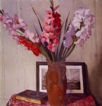 felix vallotton still life with gladioli painting 34227
