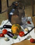 still life with large earthenware jug by felix vallotton painting