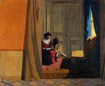 woman reading to a little girl by felix vallotton painting