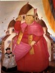 cardinal by fernando botero painting