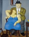 couple by fernando botero painting