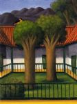 el patio by fernando botero painting