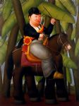fernando botero watercolor paintings - el presidente by fernando botero