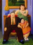 fernando botero watercolor paintings - familia colombiana by fernando botero