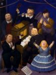 la orquesta by fernando botero painting