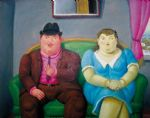 man and woman by fernando botero painting