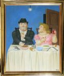 the dinner by fernando botero painting