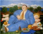 fernando botero the nap 1982 painting