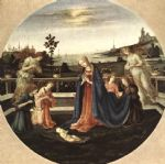 adoration of the child by filippino lippi painting