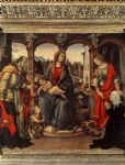 madonna with child and saints by filippino lippi painting