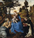 the virgin and child with sts by filippino lippi painting