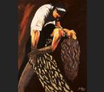 flamenco dancer watercolor paintings - averil elaziz just tango by flamenco dancer