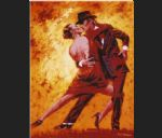 flamenco dancer watercolor paintings - terence gilbert golden tango by flamenco dancer