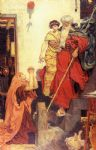 ford madox brown watercolor paintings - elijah restoring the widow s son by ford madox brown