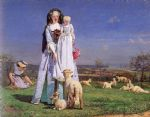 ford madox brown watercolor paintings - the pretty baa lambs by ford madox brown