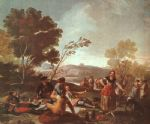 francisco de goya art - picnic on the banks of the manzanares by francisco de goya