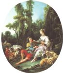 are they thinking about the grap by francois boucher painting