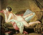 nude on a sofa by francois boucher painting