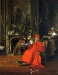 francois brunery original paintings - the cardinal s birthday by francois brunery