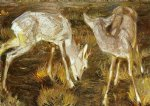 deer at dusk by franz marc Painting