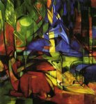 franz marc deer in the forest ii painting