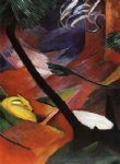 franz marc deer in the forest iii painting