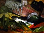 franz marc famous paintings - der traum by franz marc