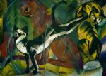 franz marc famous paintings - drei katzen by franz marc