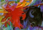 franz marc famous paintings - fighting forms by franz marc