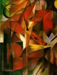 franz marc famous paintings - foxes by franz marc