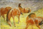 franz marc grazing horses prints