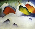 franz marc haystacks in the snow painting