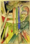 franz marc mountain goats painting