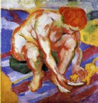 franz marc nude with cat painting