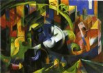 franz marc picture with cattle painting