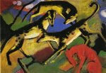franz marc playing dogs art