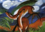 franz marc red deer ii painting